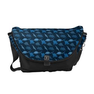La bolsa de mensajero azul del dinosaurio bolsa messenger