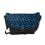 La bolsa de mensajero azul del dinosaurio bolsa de mensajeria
