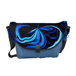 La bolsa de mensajero azul del extracto II de la m Bolsa De Mensajeria