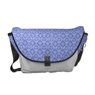 La bolsa de mensajero azul elegante del remolino bolsa de mensajeria