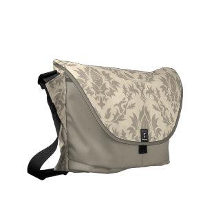 La bolsa de mensajero beige del modelo del damasco bolsas messenger
