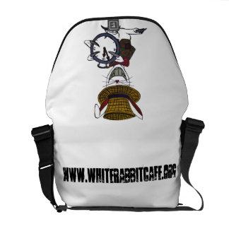 La bolsa de mensajero blanca del conejo bolsa de mensajería