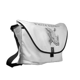 La bolsa de mensajero blanca del rinoceronte bolsas messenger