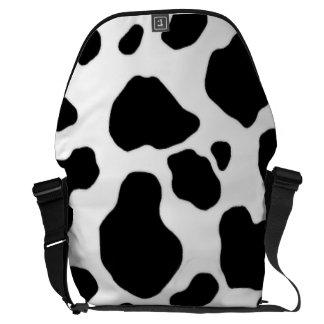 la bolsa de mensajero blanco y negro de la impresi bolsa de mensajería