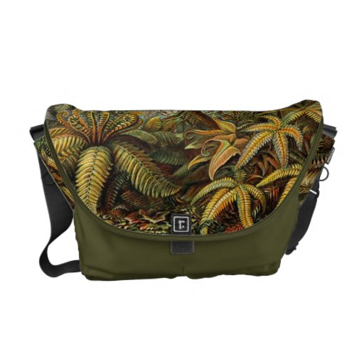 La bolsa de mensajero botánica de la impresión de  bolsa de mensajeria