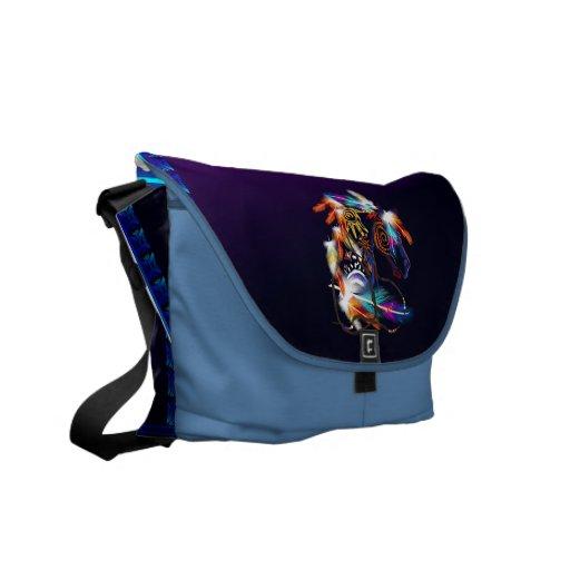La bolsa de mensajero brillante del carrito del ca bolsa messenger