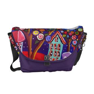 La bolsa de mensajero caprichosa del arte popular  bolsas messenger