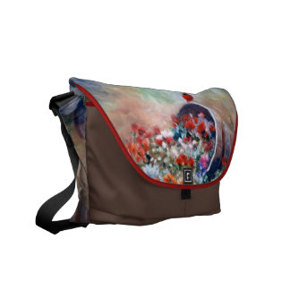 La bolsa de mensajero cardinal que desborda bolsa de mensajeria