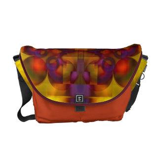 La bolsa de mensajero carmesí del carrito del mant bolsas de mensajeria