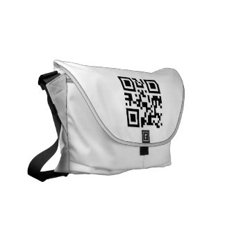 La bolsa de mensajero (código de QR en frente) Bolsas De Mensajería