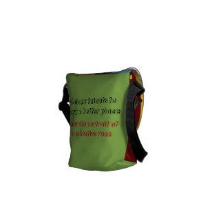 La bolsa de mensajero colectiva de la cara bolsa de mensajería