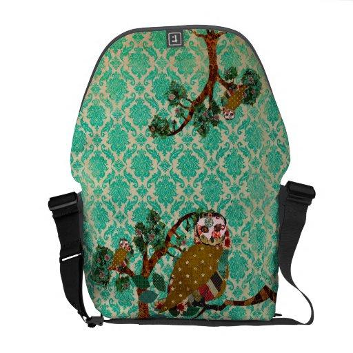 La bolsa de mensajero color de rosa del damasco bolsas messenger