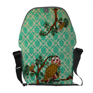 La bolsa de mensajero color de rosa del damasco de bolsas de mensajería