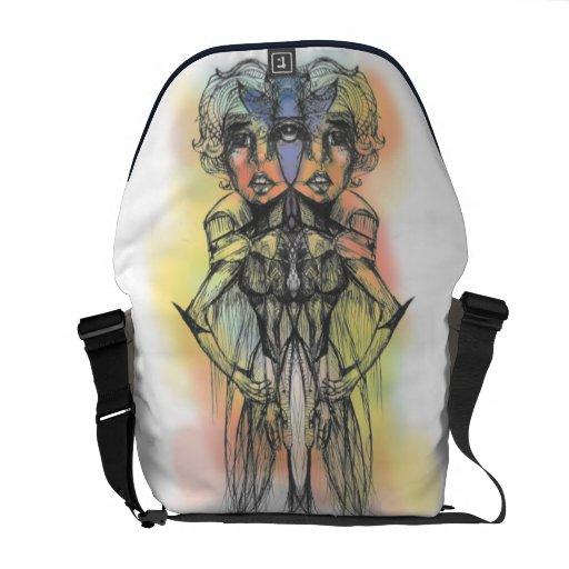 La bolsa de mensajero coloreada del carrito del dú bolsas messenger