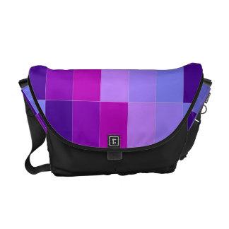 la bolsa de mensajero, colores sólidos multi bolsas de mensajeria