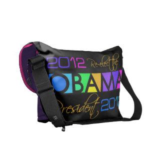 La bolsa de mensajero colorida 2012 de Obama Bolsa De Mensajería