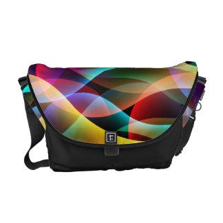 La bolsa de mensajero colorida de la fluorescencia bolsa de mensajeria