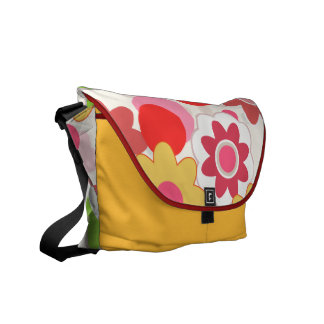 La bolsa de mensajero colorida de las flores bolsa de mensajería