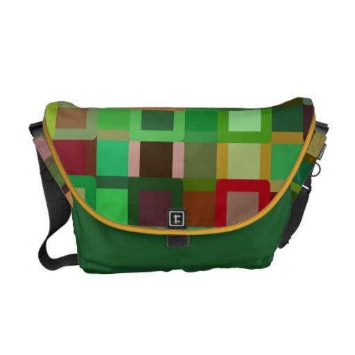 La bolsa de mensajero colorida de los bloques bolsas messenger