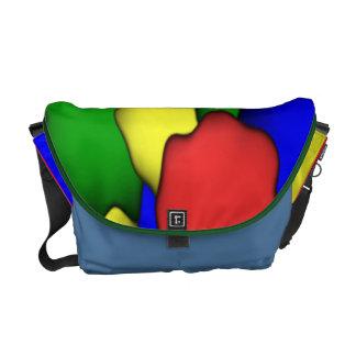 La bolsa de mensajero colorida del carrito de los  bolsa de mensajería