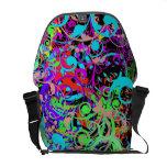 La bolsa de mensajero colorida loca del carrito de bolsas de mensajería
