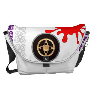 La bolsa de mensajero con el símbolo de buenos bolsas messenger