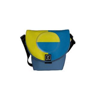 La bolsa de mensajero con la bandera del ucraniano bolsas de mensajeria