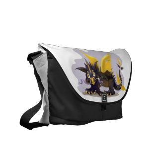 La bolsa de mensajero con la imagen negra divertid bolsas de mensajeria