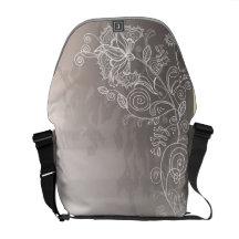 La bolsa de mensajero con refina diseño floral bolsa messenger