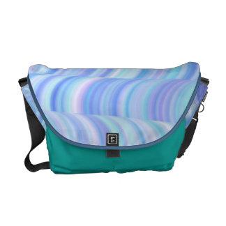 La bolsa de mensajero - curvas azules frescas bolsa de mensajería