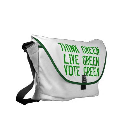 La bolsa de mensajero de 3 verdes bolsa messenger
