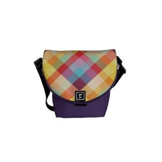 La bolsa de mensajero de 8 bits de la tela escoces bolsas de mensajeria