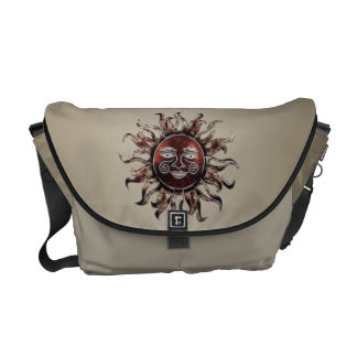 La bolsa de mensajero de bronce del fractal de Sun Bolsas De Mensajería