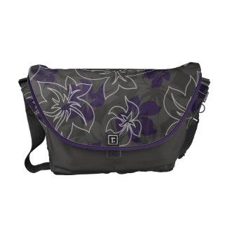 La bolsa de mensajero de Camo del hibisco de Waile Bolsas De Mensajeria
