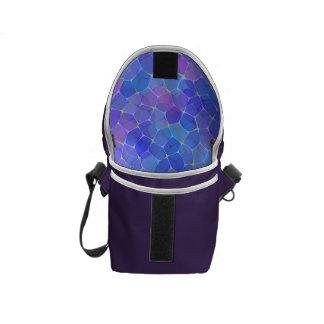 La bolsa de mensajero de cristal púrpura azul del bolsas de mensajería