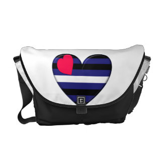 La bolsa de mensajero de cuero del corazón del org bolsas de mensajeria