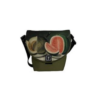 """La bolsa de mensajero de encargo de los """"melones"""" bolsa de mensajeria"""
