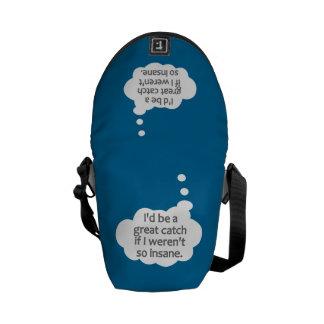 La bolsa de mensajero de encargo insana del color bolsa de mensajería