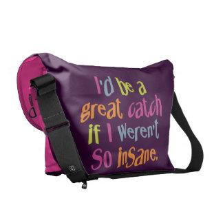 La bolsa de mensajero de encargo insana del color bolsas de mensajeria