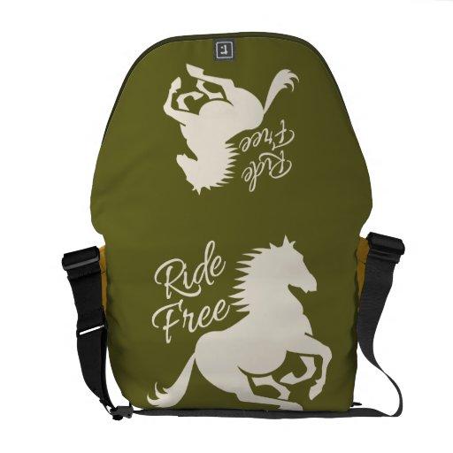 La bolsa de mensajero de encargo libre del paseo bolsa messenger