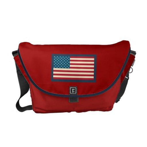 La bolsa de mensajero de la bandera americana bolsa de mensajeria