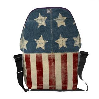 La bolsa de mensajero de la bandera americana del  bolsa de mensajeria