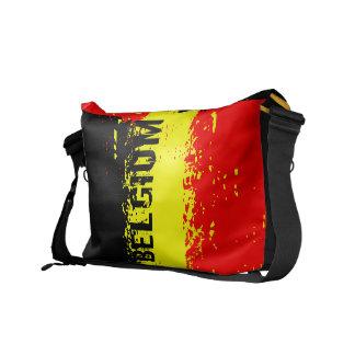 La bolsa de mensajero de la bandera de Bélgica Bolsas De Mensajeria