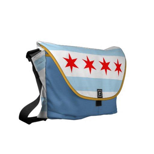 La bolsa de mensajero de la bandera de Chicago Bolsa De Mensajeria