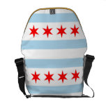 La bolsa de mensajero de la bandera de Chicago Bolsas De Mensajería