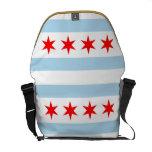La bolsa de mensajero de la bandera de Chicago Bolsas Messenger