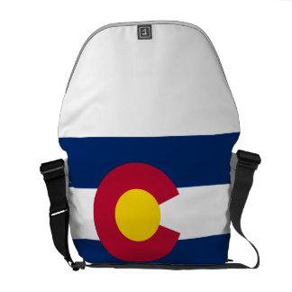 La bolsa de mensajero de la bandera de Colorado Bolsas Messenger