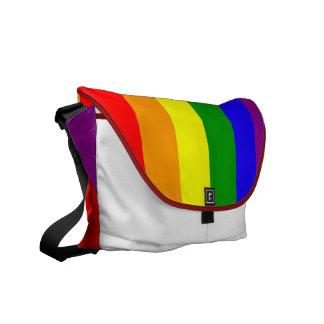 La bolsa de mensajero de la bandera del arco iris bolsa de mensajeria