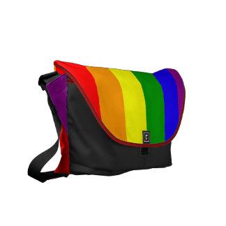 La bolsa de mensajero de la bandera del arco iris bolsas de mensajeria