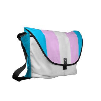 La bolsa de mensajero de la bandera del transexual bolsas de mensajeria